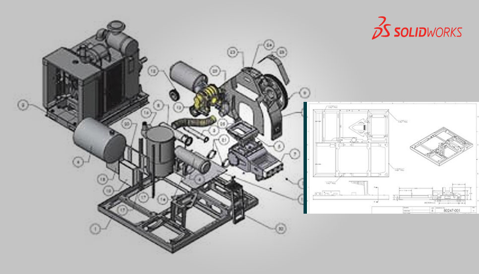 3D Assembly Drawing for Waterblasting Equipment