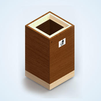 Trash Bin Design for Institutional Park Facility
