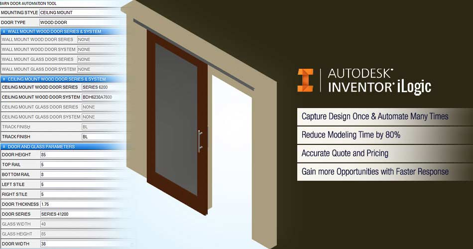 Design Automation for Wood Doors using Autodesk Inventor iLogic