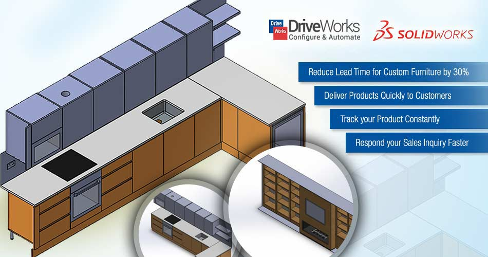 Design Automation of Metal and Wooden Retail Furniture using DriveWorks
