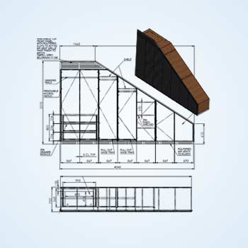 Custom Made Furniture Design Drafting