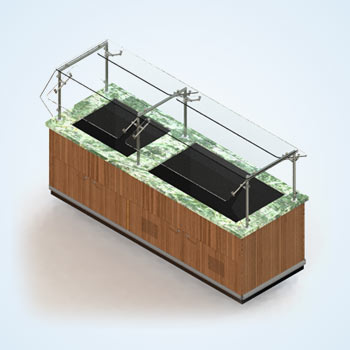 Commercial Dipping Cabinet Drafting for Ice Cream Store