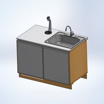 Detail Assembly for Kitchen Cabinet