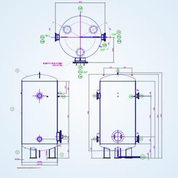 3D Drawing of Pressure Vessel