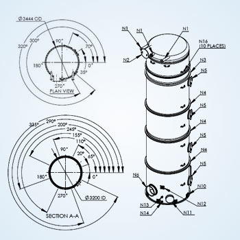Fabrication Drawing for Process Tank