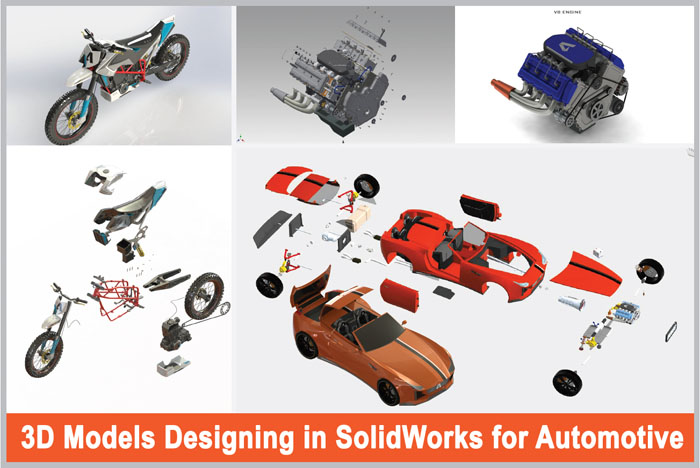 3D Models Designing in Solidworks for Automotive