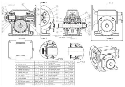 Paper to CAD Conversion of Reducer Gear Assembly