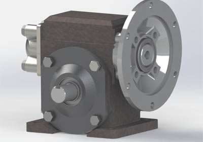 Outsourcing CAD Conversion of Reducer Gear Assembly