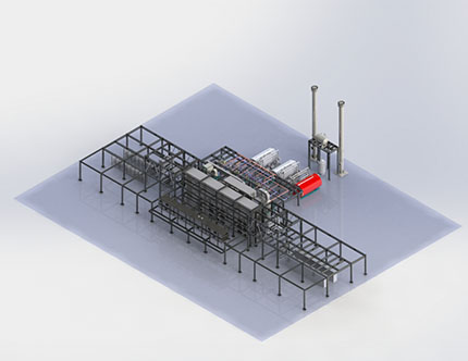Single Yarn Treating Plant