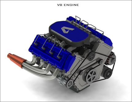 V8 Engine Design