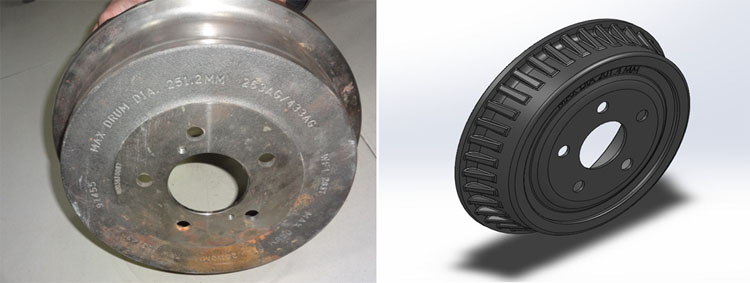 3D CAD Model of Brake Drum