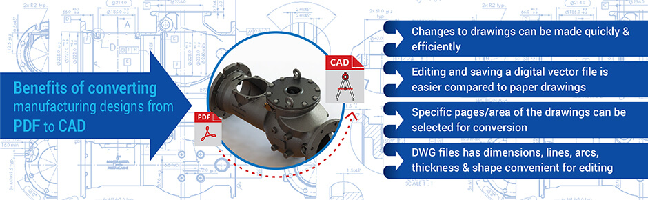 convert pdf to CAD for manufacturing design needs
