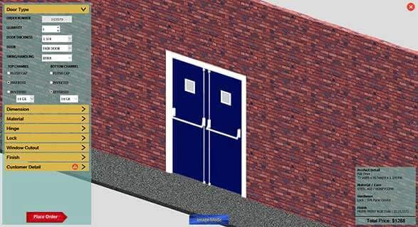 3D Door Configuration