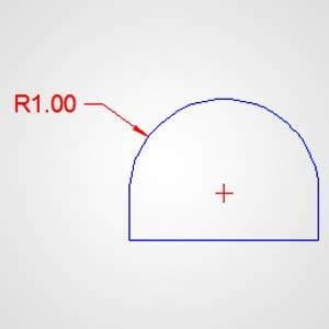 Assigning Dimensional properties of Circle radius